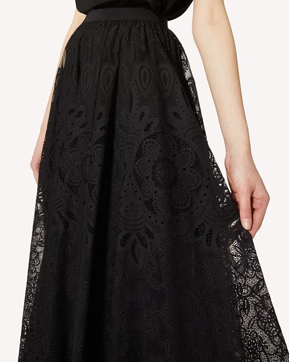 REDValentino Lace full skirt