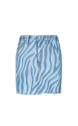 JUST CAVALLI Skirt Woman Skirt in zebra-stripe denim f