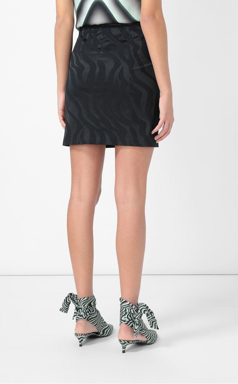 JUST CAVALLI Skirt in zebra-stripe jacquard Skirt Woman a