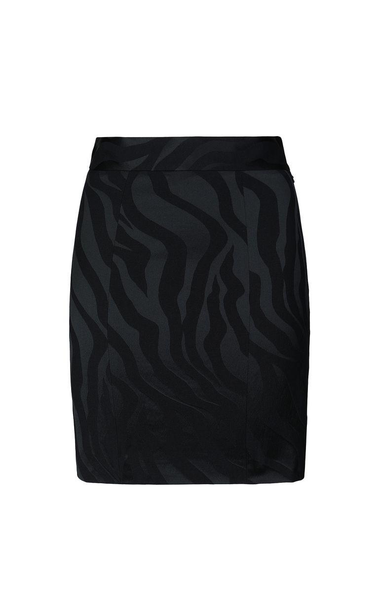 JUST CAVALLI Skirt in zebra-stripe jacquard Skirt Woman f