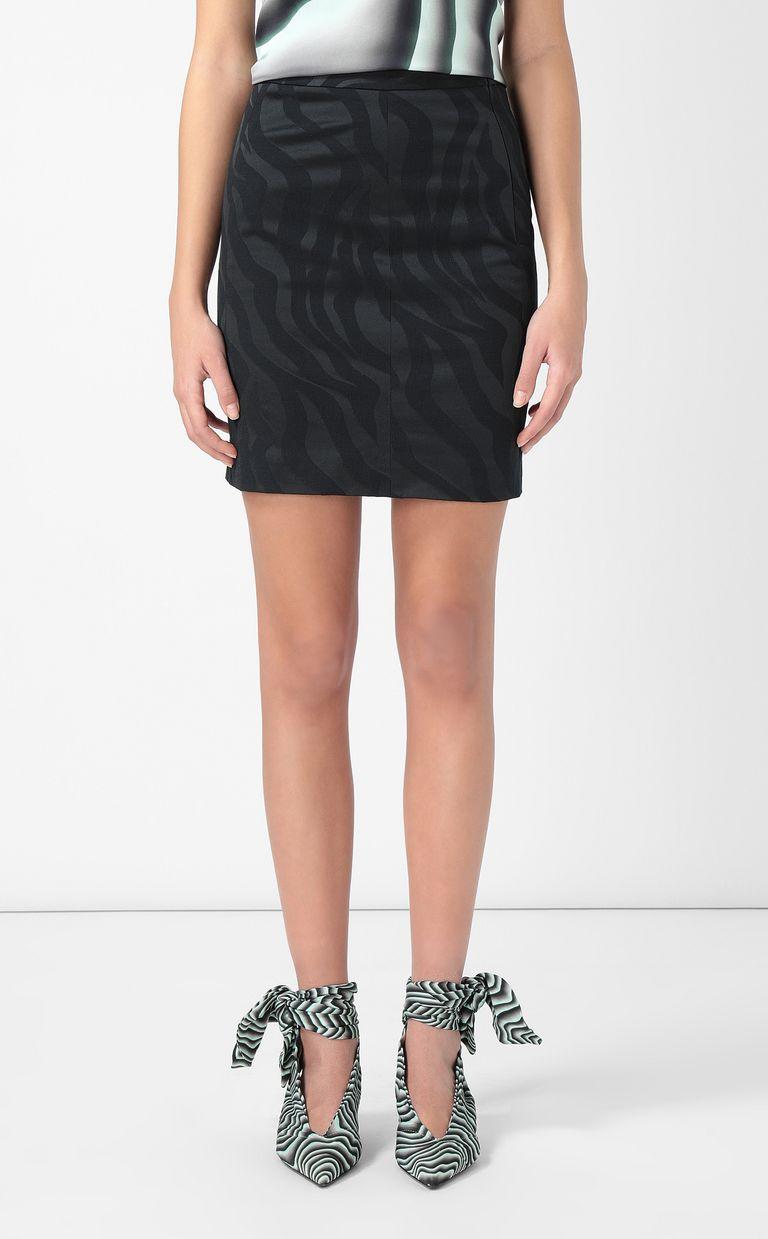 JUST CAVALLI Skirt in zebra-stripe jacquard Skirt Woman r