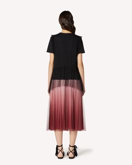 REDValentino Dégradé tulle pleated skirt