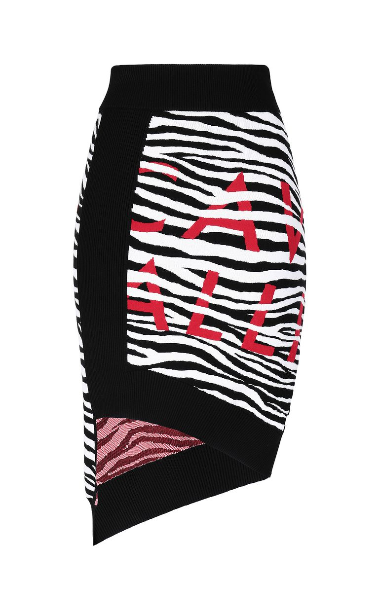 JUST CAVALLI Skirt with Micro-Zebra print Skirt Woman f