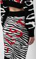 JUST CAVALLI Skirt with Micro-Zebra print Skirt Woman e