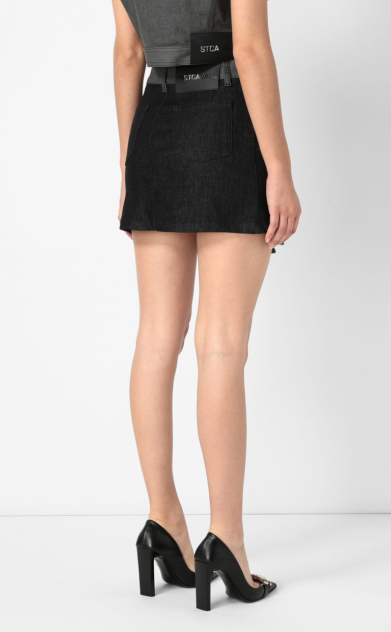JUST CAVALLI Short denim skirt Mini skirt Woman a