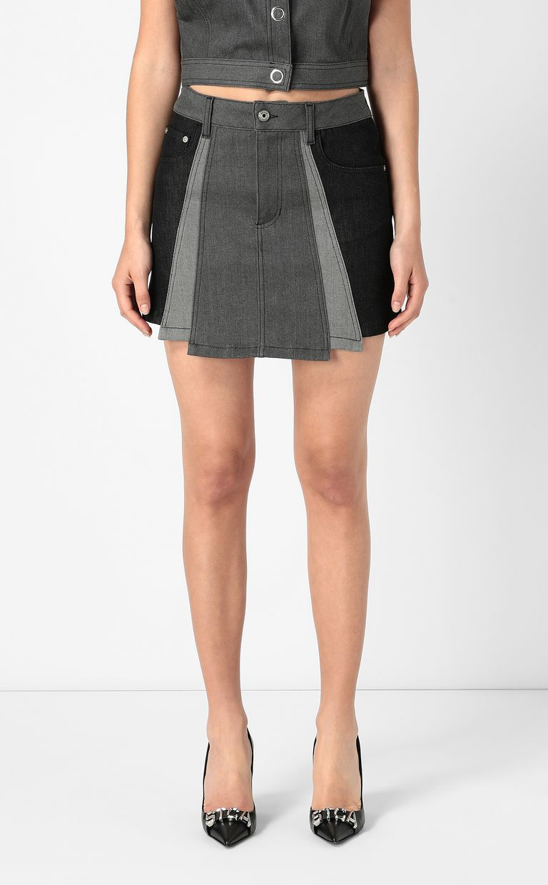 JUST CAVALLI Short denim skirt Mini skirt Woman r