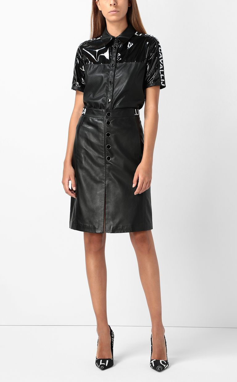 JUST CAVALLI Leather skirt Leather skirt Woman d