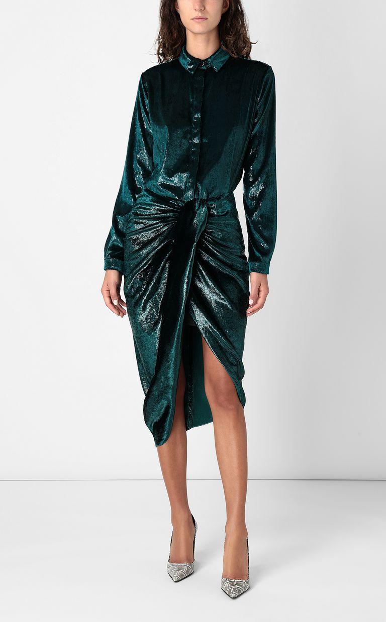 JUST CAVALLI Wet-effect velvet skirt Skirt Woman d