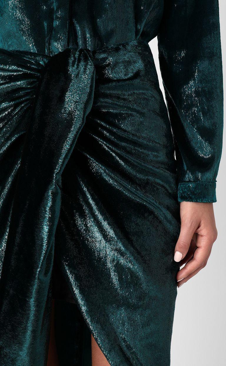 JUST CAVALLI Wet-effect velvet skirt Skirt Woman e