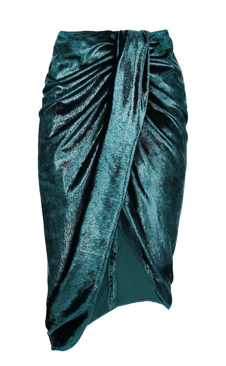 JUST CAVALLI Wet-effect velvet skirt Skirt Woman f