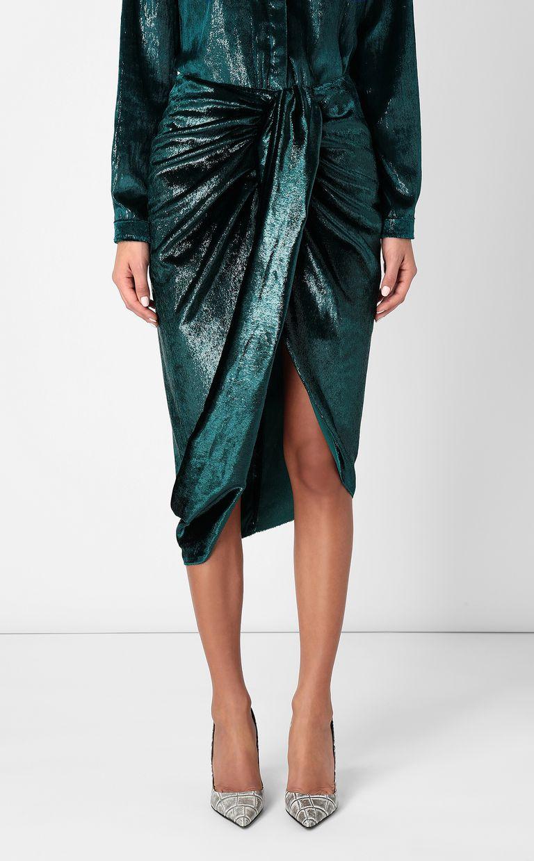 JUST CAVALLI Wet-effect velvet skirt Skirt Woman r