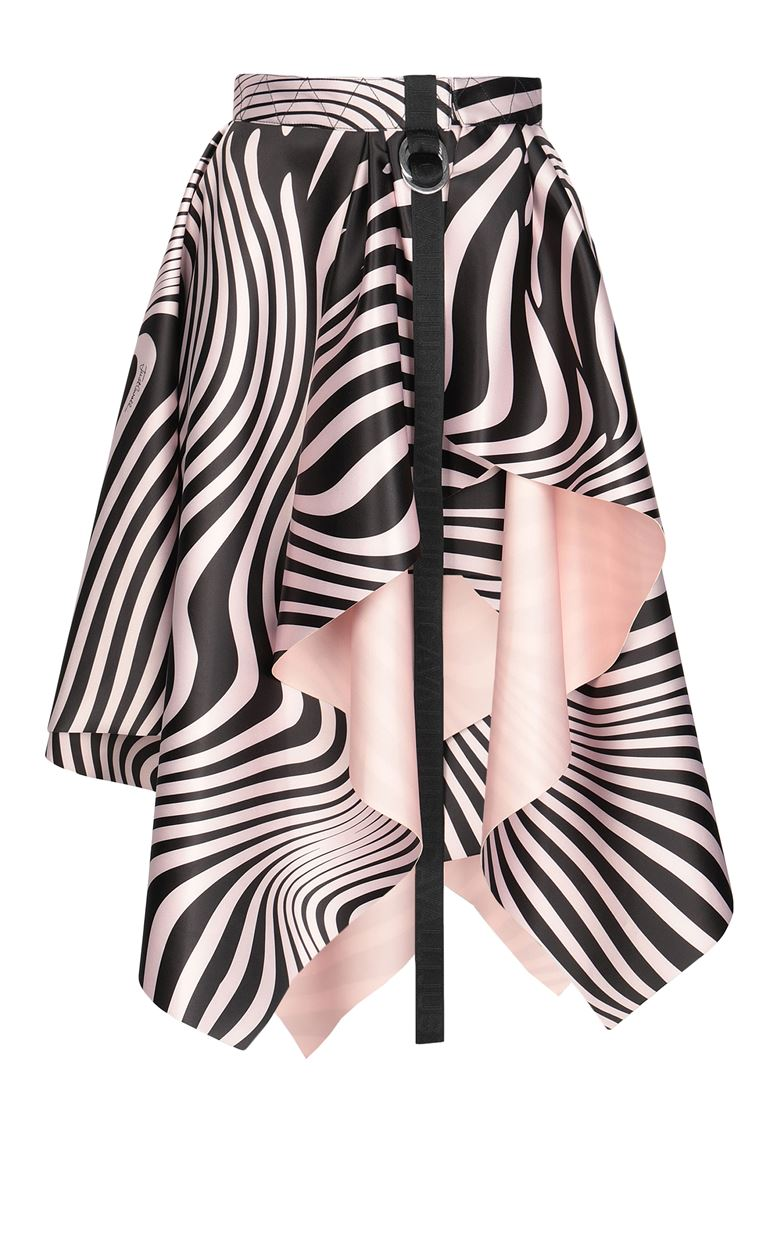 JUST CAVALLI Skirt with Zebra-Waves print Knee length skirt Woman f