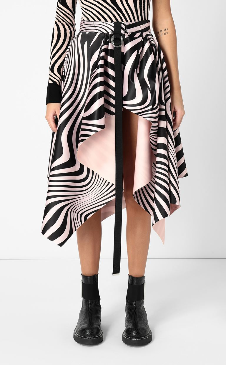 JUST CAVALLI Skirt with Zebra-Waves print Knee length skirt Woman r