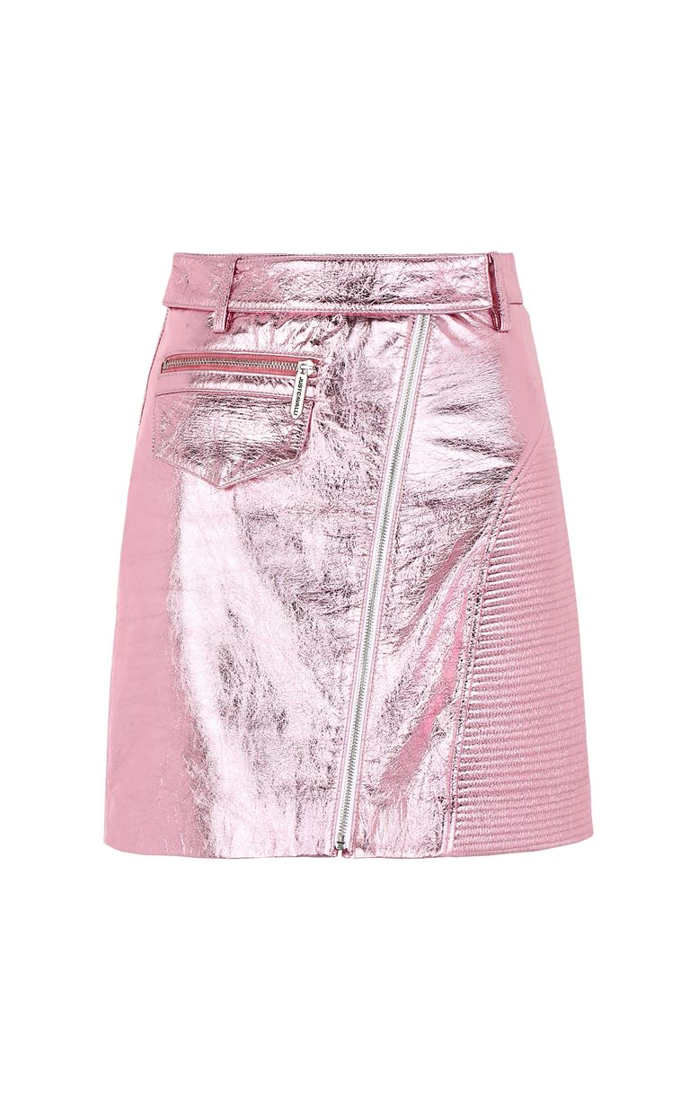 JUST CAVALLI Miniskirt in lamé leather Leather skirt Woman f