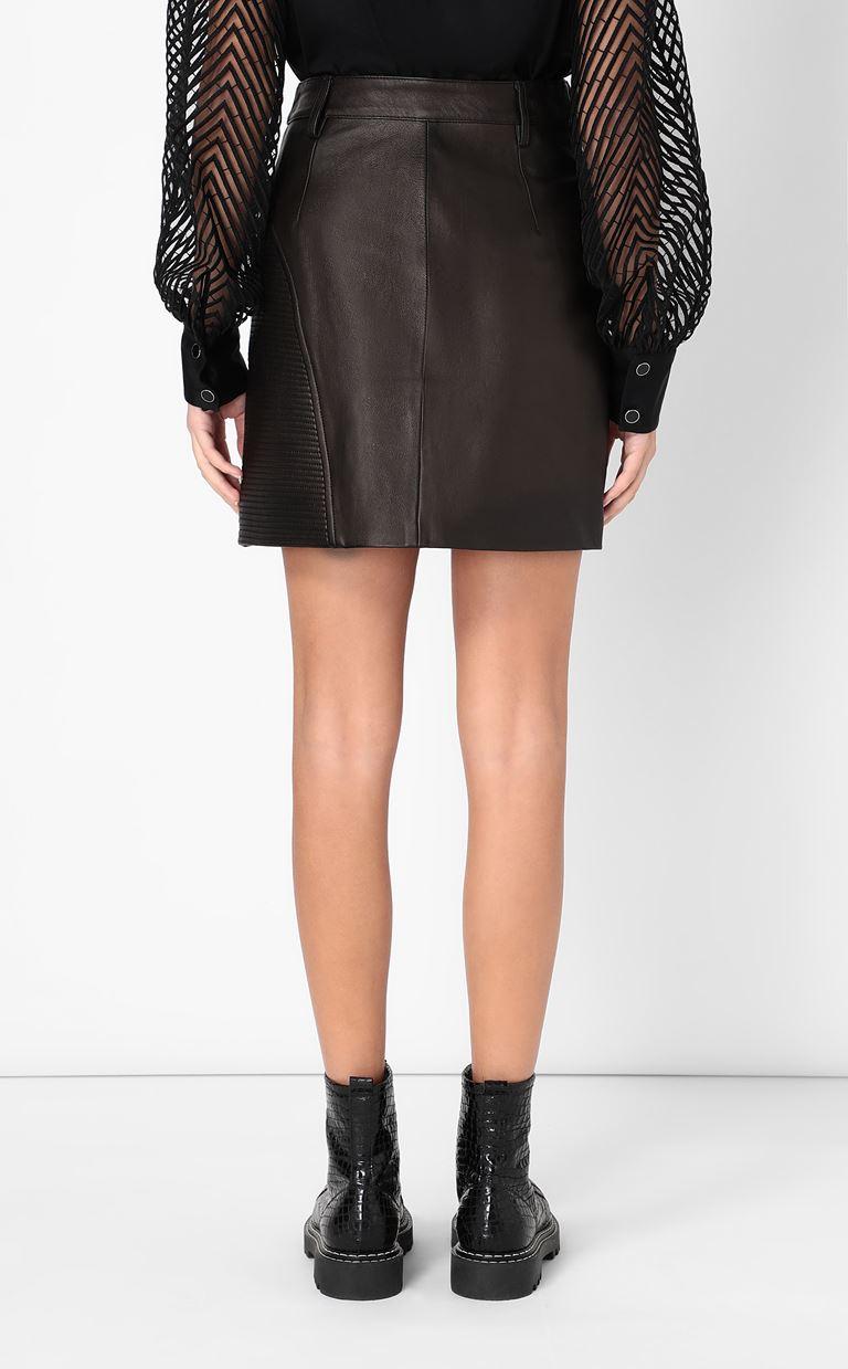 JUST CAVALLI Leather miniskirt Leather skirt Woman a