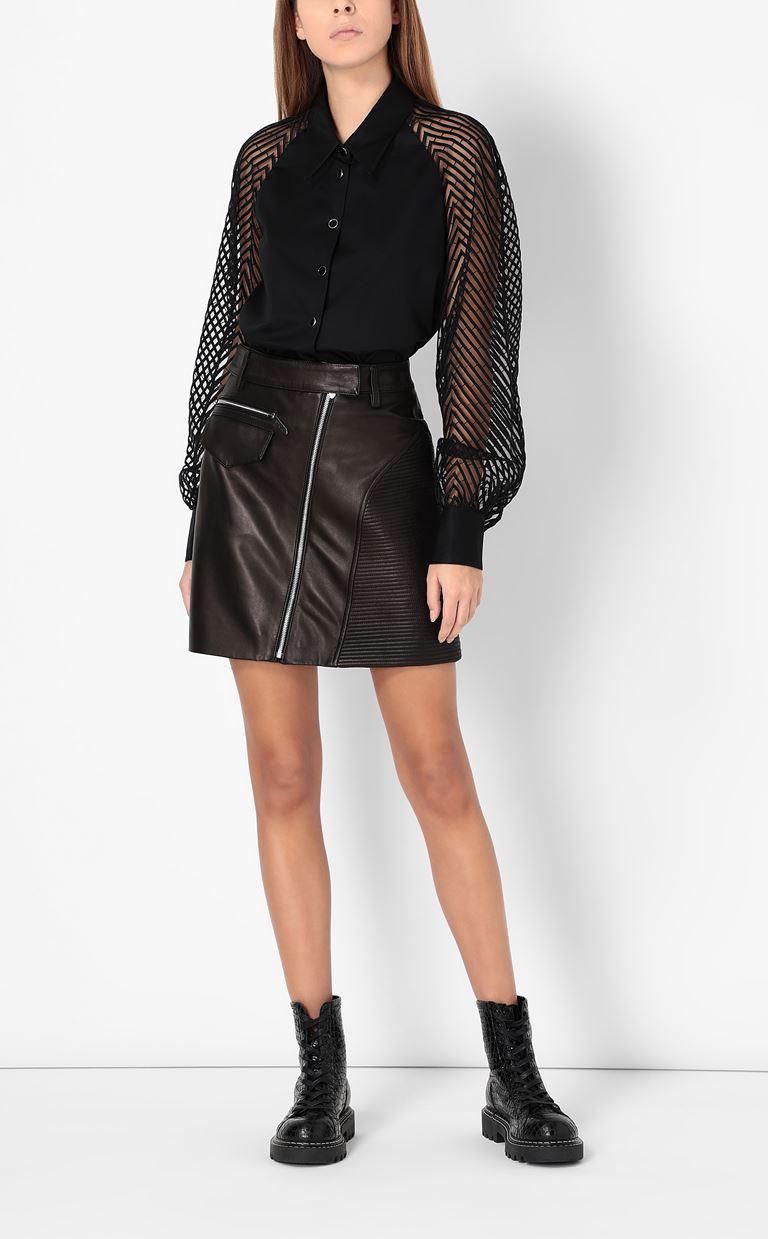 JUST CAVALLI Leather miniskirt Leather skirt Woman d