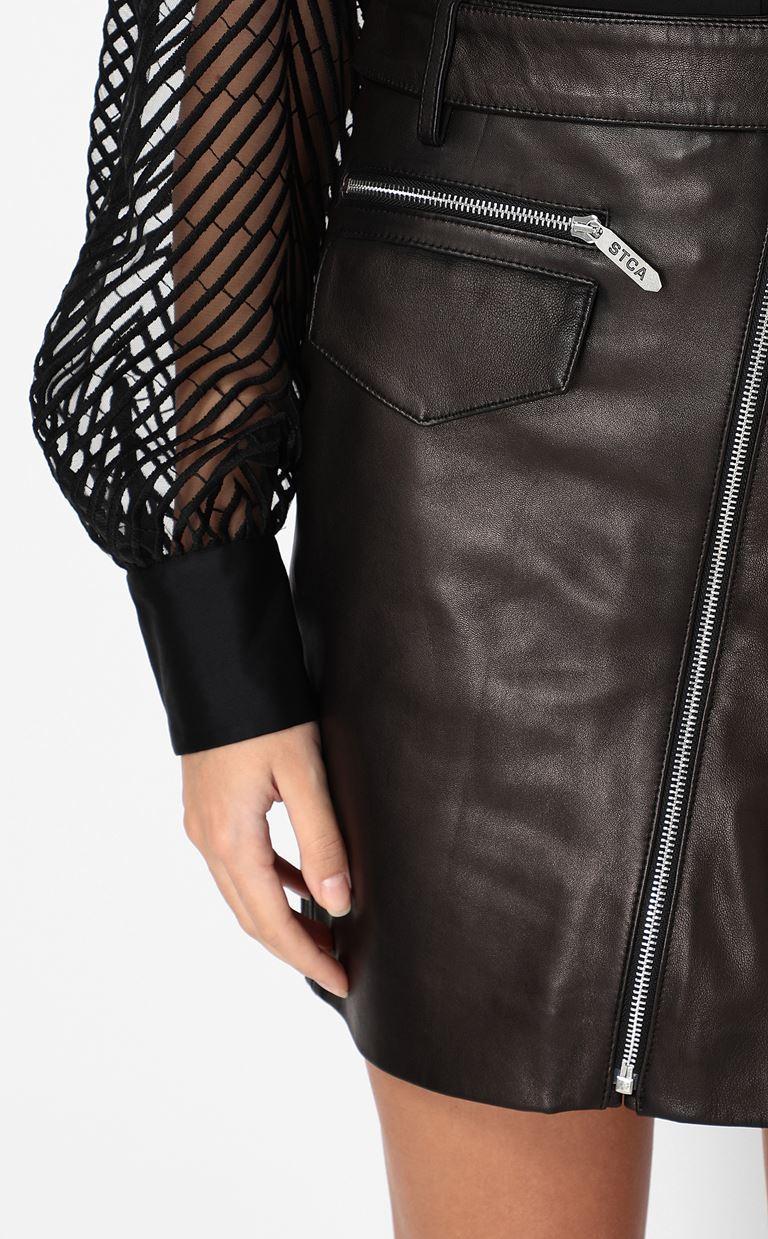 JUST CAVALLI Leather miniskirt Leather skirt Woman e
