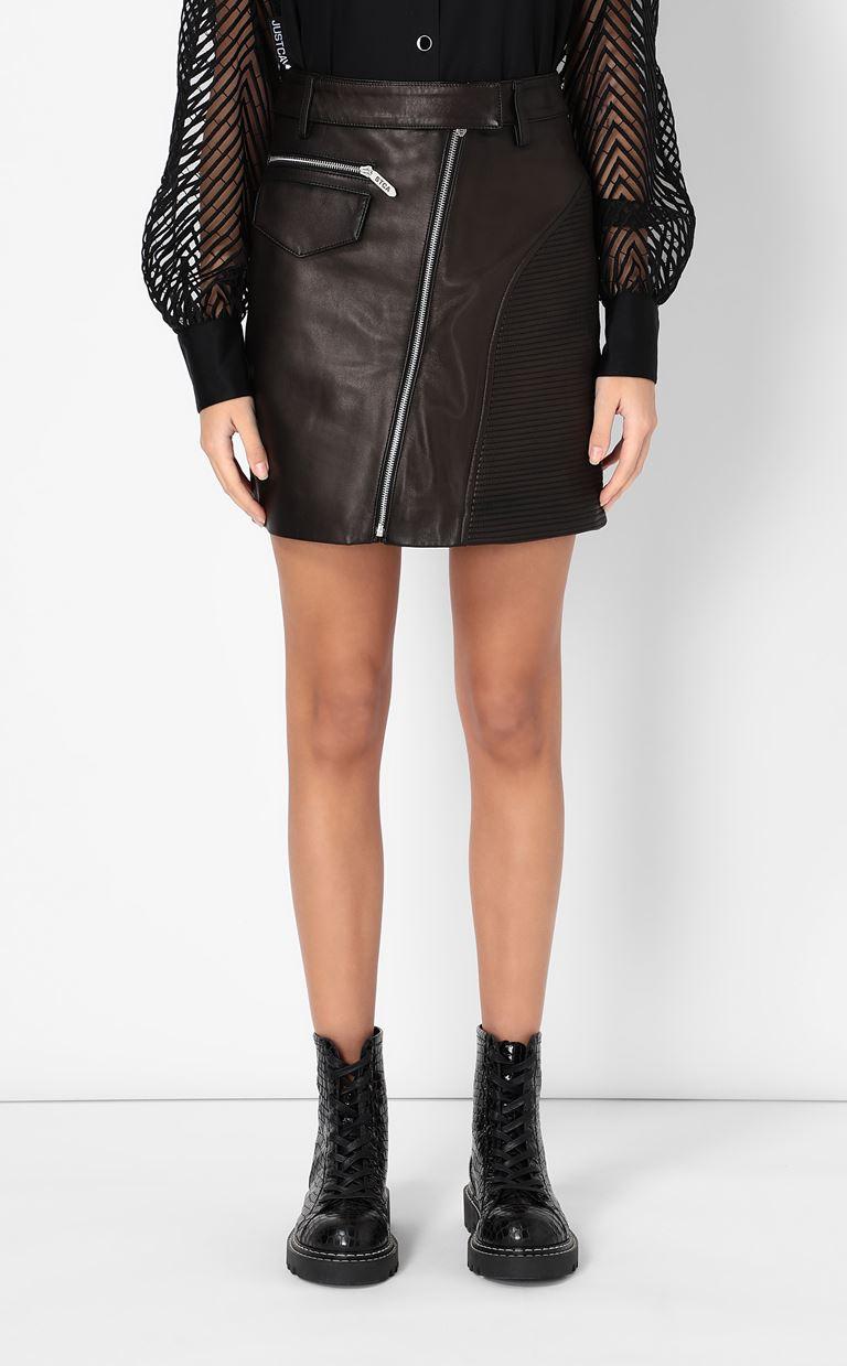 JUST CAVALLI Leather miniskirt Leather skirt Woman r
