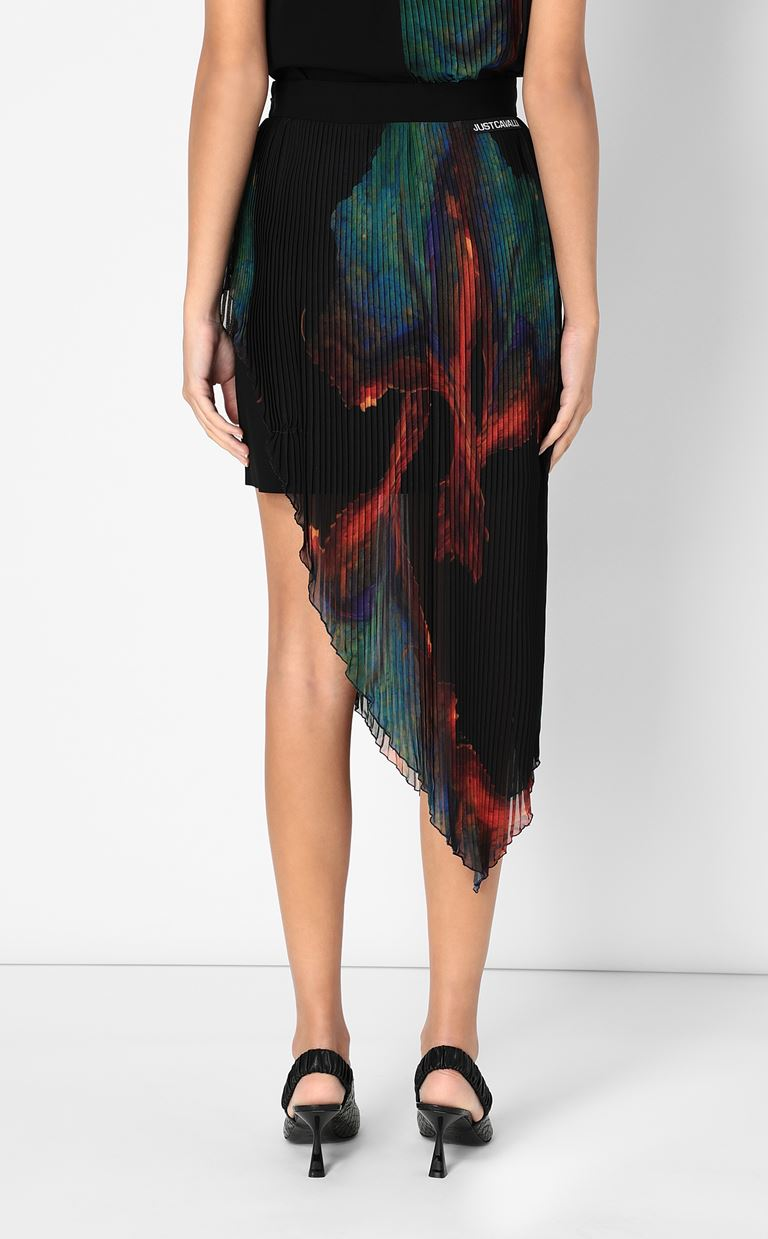 JUST CAVALLI Skirt with floral print design Skirt Woman a