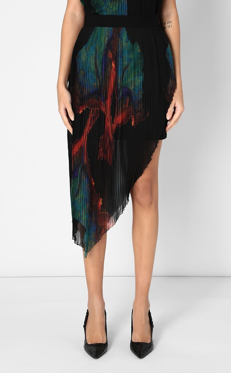JUST CAVALLI Skirt with floral print design Skirt Woman r