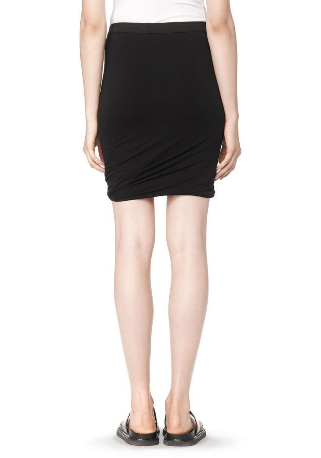 T by ALEXANDER WANG CLASSIC MICRO MODAL SPANDEX TWIST SKIRT Skirt/DEL Adult 12_n_a