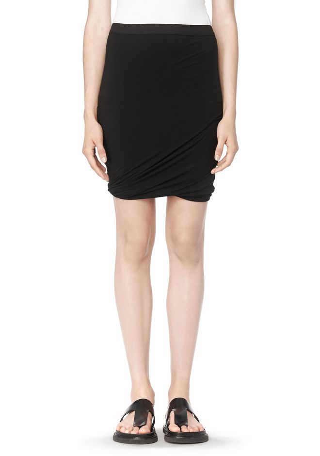 T by ALEXANDER WANG CLASSIC MICRO MODAL SPANDEX TWIST SKIRT Skirt/DEL Adult 12_n_d