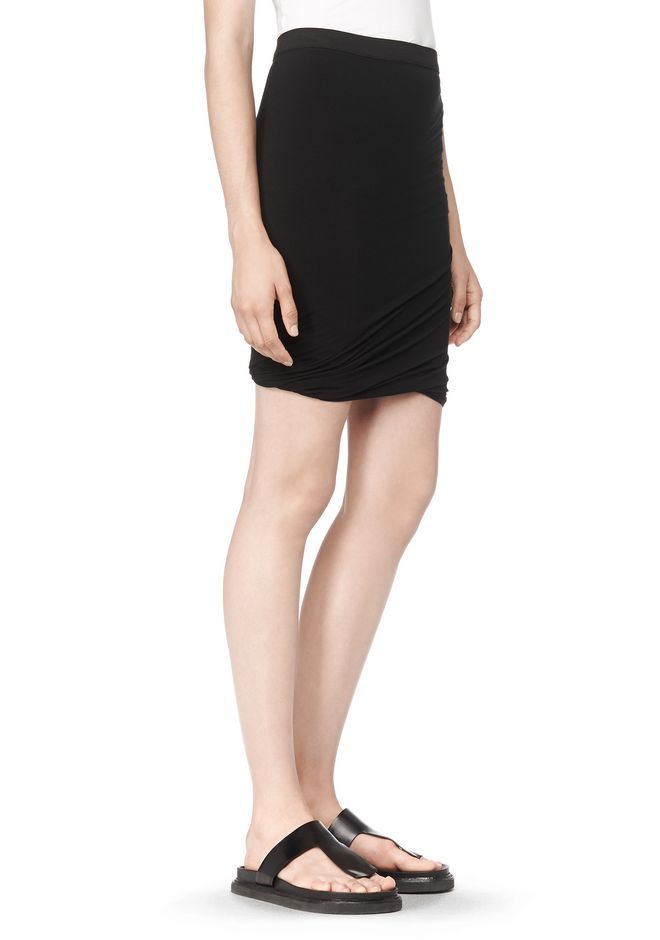 T by ALEXANDER WANG CLASSIC MICRO MODAL SPANDEX TWIST SKIRT Skirt/DEL Adult 12_n_e