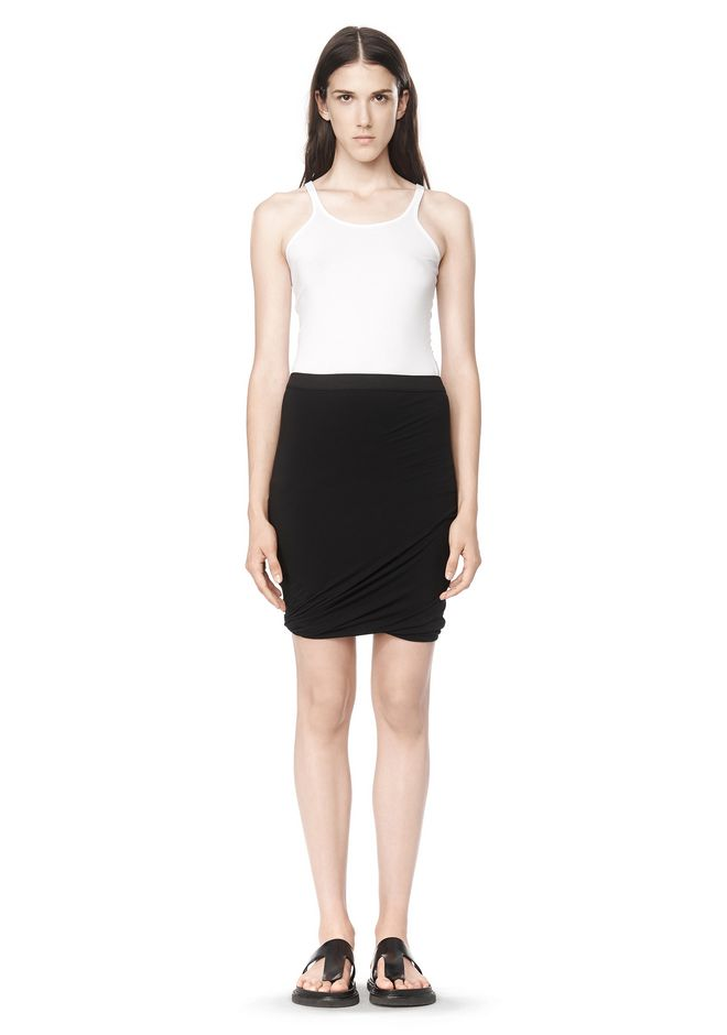 T by ALEXANDER WANG CLASSIC MICRO MODAL SPANDEX TWIST SKIRT Skirt/DEL Adult 12_n_f