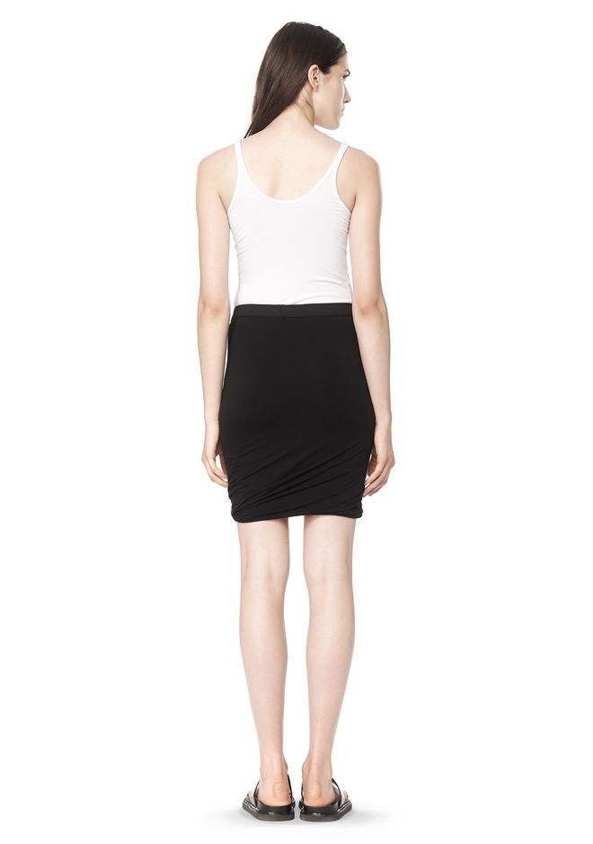 T by ALEXANDER WANG CLASSIC MICRO MODAL SPANDEX TWIST SKIRT Skirt/DEL Adult 12_n_r