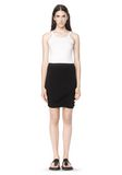 T by ALEXANDER WANG CLASSIC MICRO MODAL SPANDEX TWIST SKIRT Skirt/DEL Adult 8_n_f