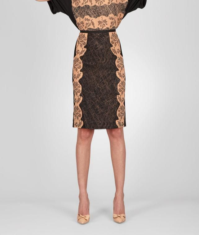 BOTTEGA VENETA Studded Viscose Crepe Printed Skirt Skirt or pant D fp