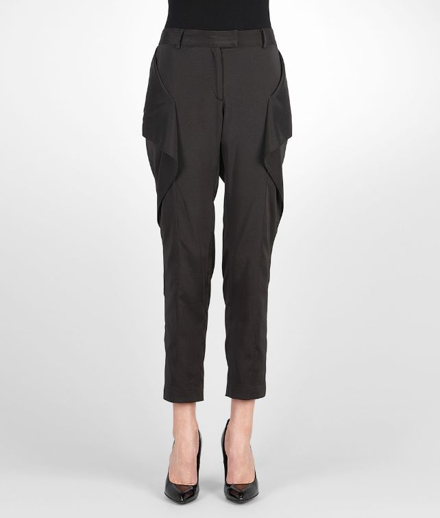 BOTTEGA VENETA Nero Light Silk Pant Skirt or trouser D fp