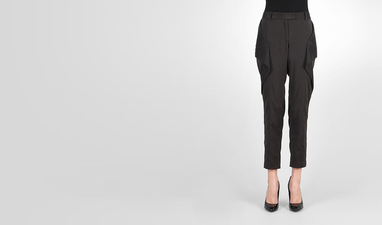 BOTTEGA VENETA Skirt or trouser D Nero Light Silk Pant pl