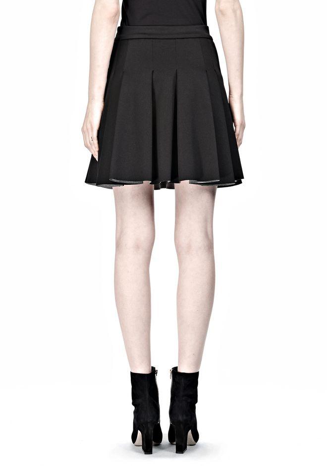 T by ALEXANDER WANG JERSEY BONDED NEOPRENE BOX PLEAT SKIRT Skirt/DEL Adult 12_n_d
