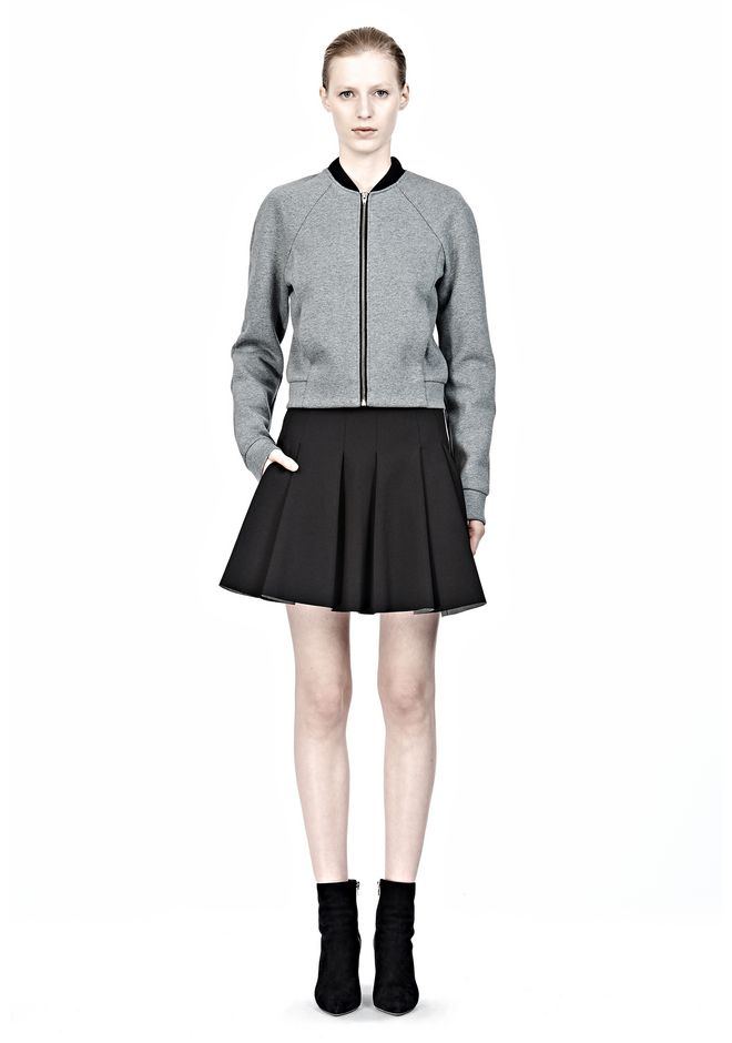 T by ALEXANDER WANG JERSEY BONDED NEOPRENE BOX PLEAT SKIRT Skirt/DEL Adult 12_n_f