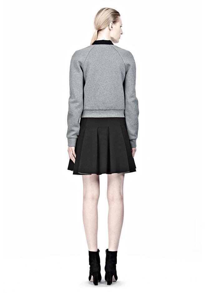 T by ALEXANDER WANG JERSEY BONDED NEOPRENE BOX PLEAT SKIRT Skirt/DEL Adult 12_n_r