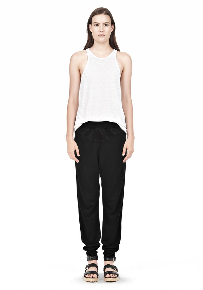 T by ALEXANDER WANG RAYON TRIBLEND SWEATPANTS PANTS Adult 12_n_f