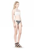 T by ALEXANDER WANG STRIPE MESH COMBO SWIM BOTTOM Swimwear Adult 8_n_e