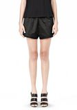 T by ALEXANDER WANG TECHNICAL MEMORY SATIN TRACK SHORTS SHORTS Adult 8_n_d
