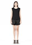 T by ALEXANDER WANG TECHNICAL MEMORY SATIN TRACK SHORTS SHORTS Adult 8_n_f