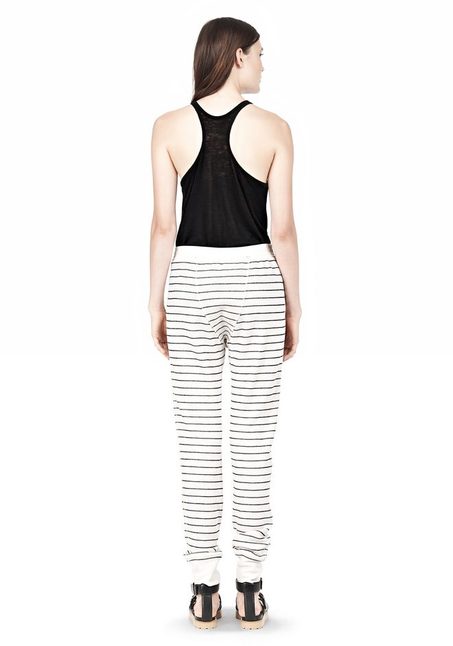 T by ALEXANDER WANG FRENCH RIB SWEATPANTS PANTS Adult 12_n_r