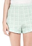 T by ALEXANDER WANG GRID JACQUARD BONDED NEOPRENE CROPPED SHORTS SHORTS Adult 8_n_a