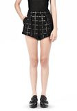 T by ALEXANDER WANG GRID PRINT NEOPRENE CROPPED SHORTS SHORTS Adult 8_n_d