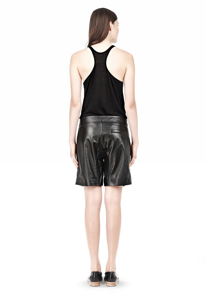 T by ALEXANDER WANG LIGHTWEIGHT LEATHER BOARDSHORTS SHORTS Adult 12_n_r