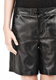 T by ALEXANDER WANG LIGHTWEIGHT LEATHER BOARDSHORTS SHORTS Adult 8_n_a