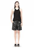 T by ALEXANDER WANG LIGHTWEIGHT LEATHER BOARDSHORTS SHORTS Adult 8_n_f