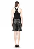 T by ALEXANDER WANG LIGHTWEIGHT LEATHER BOARDSHORTS SHORTS Adult 8_n_r