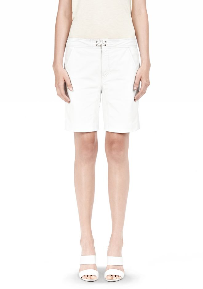 T by ALEXANDER WANG LIGHTWEIGHT LEATHER BOARDSHORTS SHORTS Adult 12_n_d