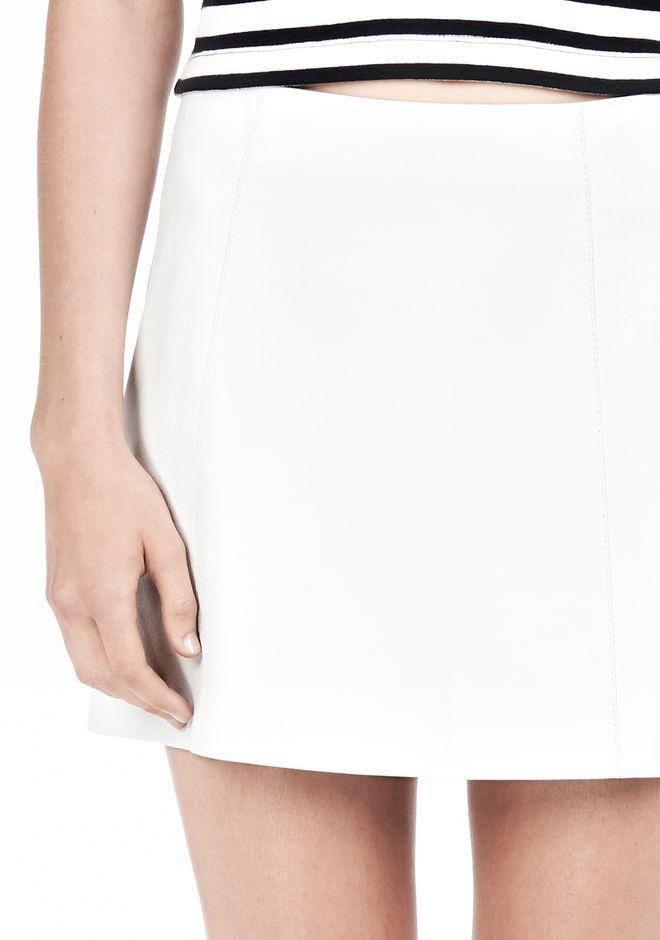 T by ALEXANDER WANG LIGHTWEIGHT A-LINE LEATHER SKIRT Skirt Adult 12_n_a