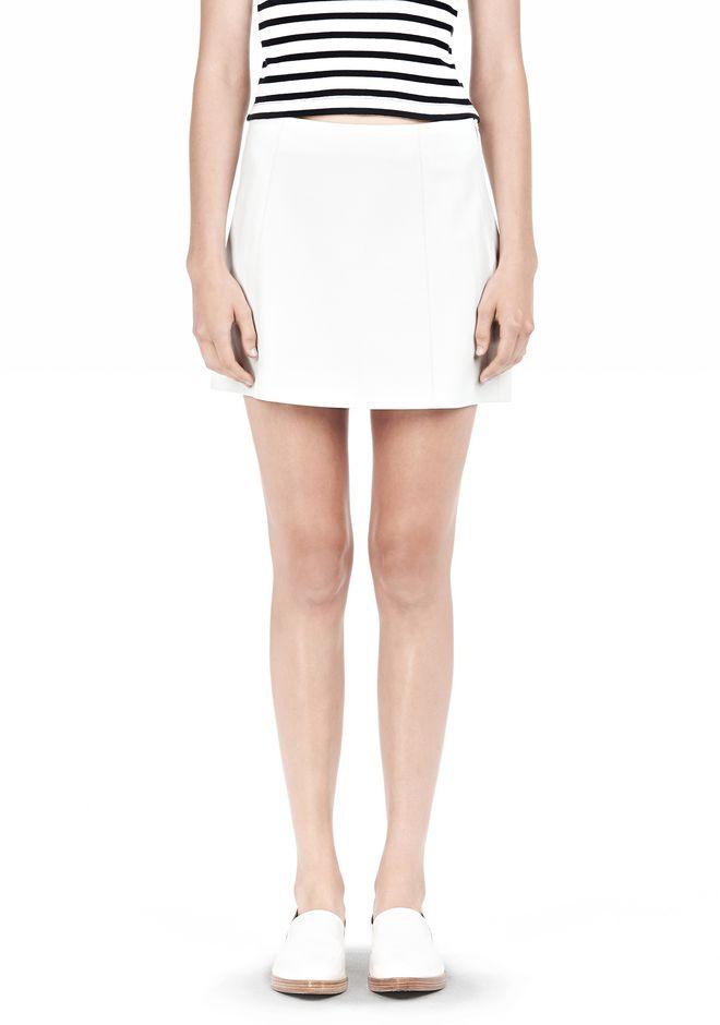 T by ALEXANDER WANG LIGHTWEIGHT A-LINE LEATHER SKIRT Skirt Adult 12_n_e